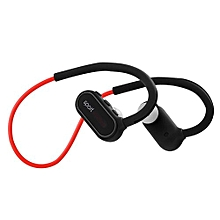 GuoaivoWireless Headphones Wireless Sports Earphones Neckband Headset With Mic A -Black+Red