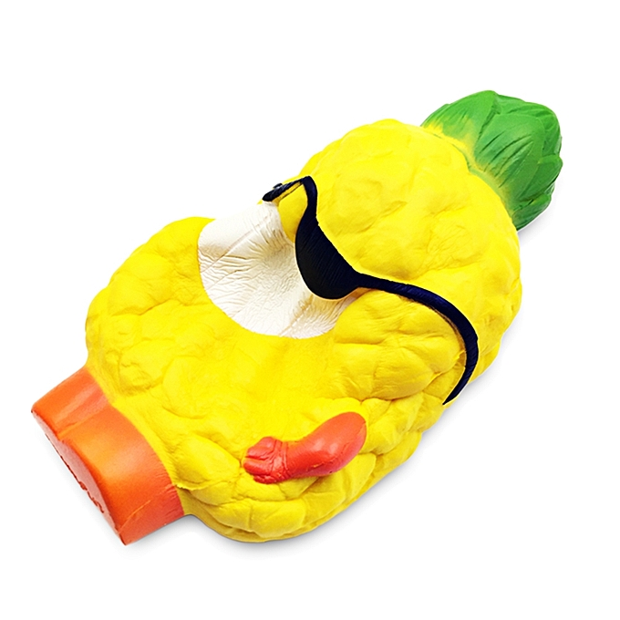 buy fashion unisex sponge pineapple stress reliever toy yellow