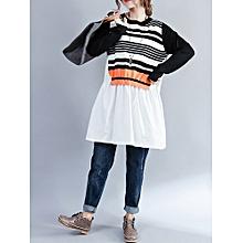 Knitted Shirt Comfortable Cotton Sweater Dress