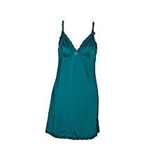 Satin lace embelish lingerie withside  slit