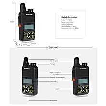 Baofeng Mini Walkie Talkie BF-T1 Handheld Single Band Two-Way Radios 20 Channels