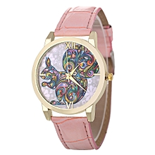 Africanmall store Women Quartz Analog Wrist Dial Delicate Watch Luxury Watches-Pink