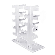 2 Row 10 Pairs Sunglasses Glasses Rack Holder Frame Display Stand Transparent