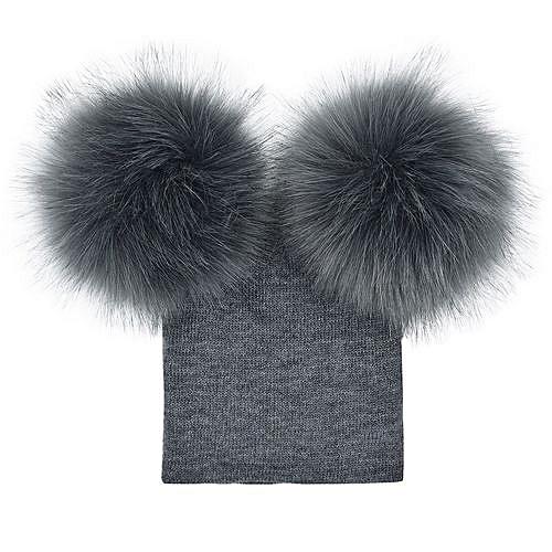 Eissely Infant Baby Girls Boys Crochet Knit Winter Warm Faux Fur Ball Hat  Beanie Cap a733033edf2a