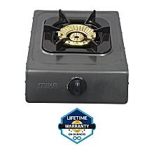 MGS1401 - Gas Stove, Double Burner, Non-Stick  - Black