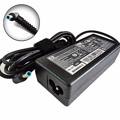 Laptop Charger Adapter - Standard 19 5v-2 31A - Blue Pin-Black+power cable
