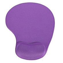 Anti-slip Comfort Mouse Pad Mat with Gel Foam Rest Wrist Support - Purple