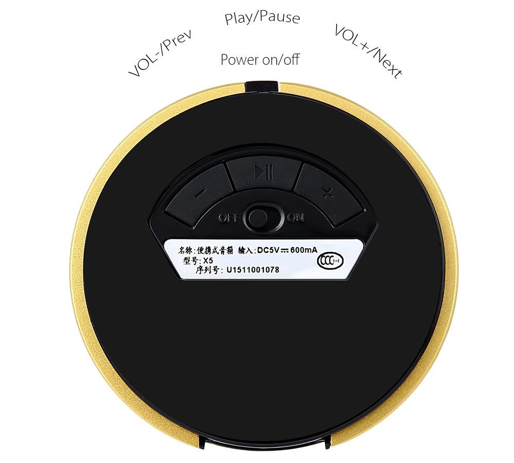 AbramTek X5 Portable Bluetooth 4.0 Wireless Speaker FM Radio TF Card AUX Music Player