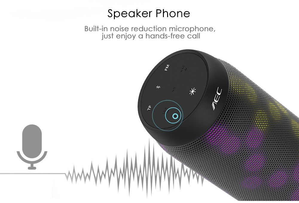 AEC BQ - 615S Bluetooth Speaker with LED Light Portable Wireless Player