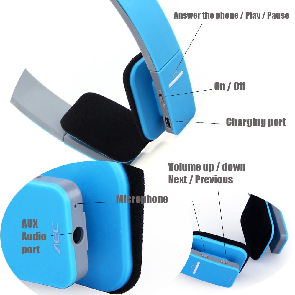 AEC BQ618 Smart Bluetooth 4.0 Headphone Wireless Earphone Headset with MIC
