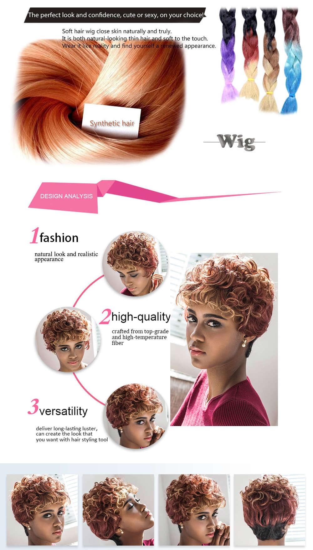 Buy aisi hair aisihair stunning short round curly full bangs mixed wigs careg aisihair stunning short round curly full bangs mixed color wigs for women solutioingenieria Choice Image