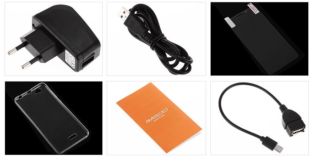 AMIGOO X15 3G Phablet Android 6.0 5.5 inch MTK6580 Quad Core 1.3GHz 1GB RAM 8GB ROM Dual Cameras 4000mAh Battery