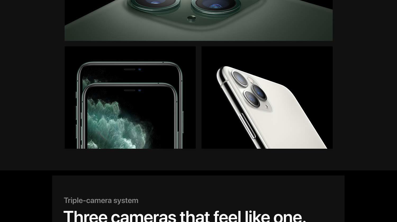 Triple camera system. Three cameras that feel like one.