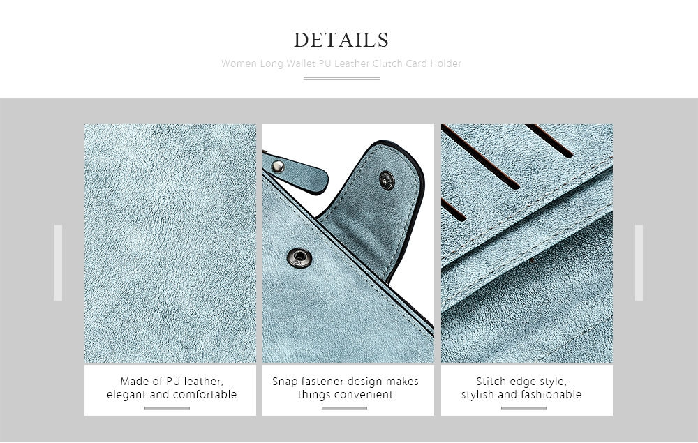 ... Baellerry Women Long Wallet PU Leather Clutch Card Holder Large Capacity Purse ...