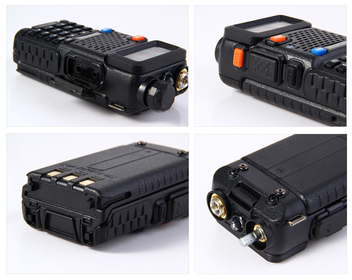 BAOFENG UV-5R UHF / VHF Walkie Talkie 128-Channel with Flashlight
