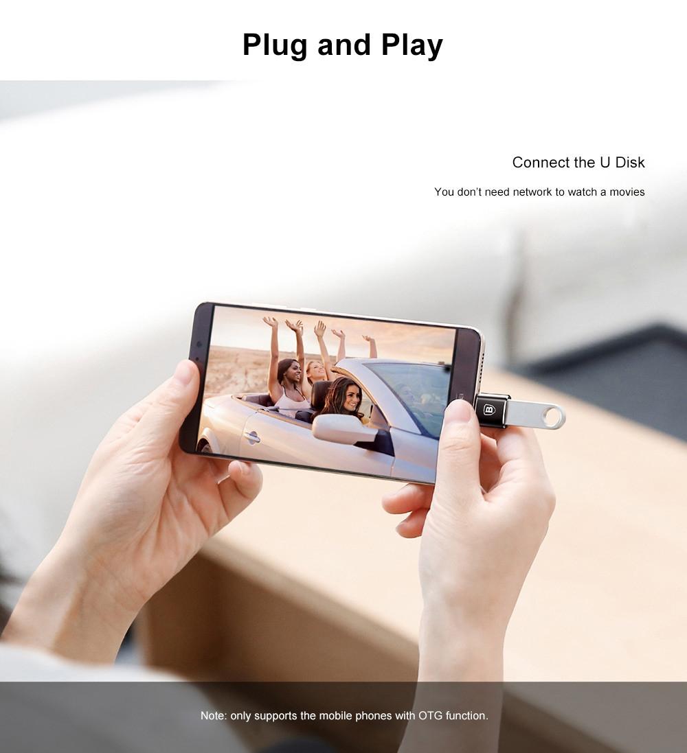 Baseus Mini OTG Male Type-C to Female USB Converter Charging Data Adapter