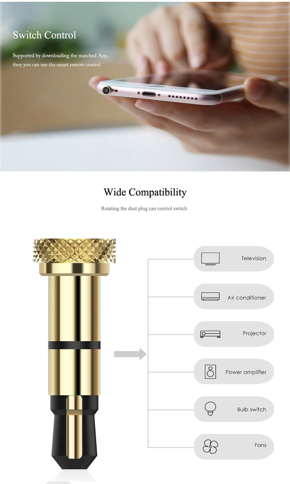Baseus 3.5mm UniversalInfraredSmartRemoteControl DustPlugCoverfor iPhone
