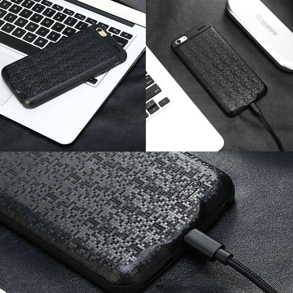 Baseus Plaid Backpack 7300mAh Power Bank Portable Charger Battery Case for iPhone 6 Plus / 6s Plus