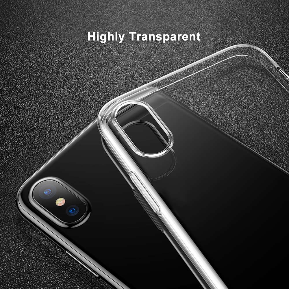 Baseus Simple Series Ultra Slim Clear TPU Case Back Cover for iPhone X