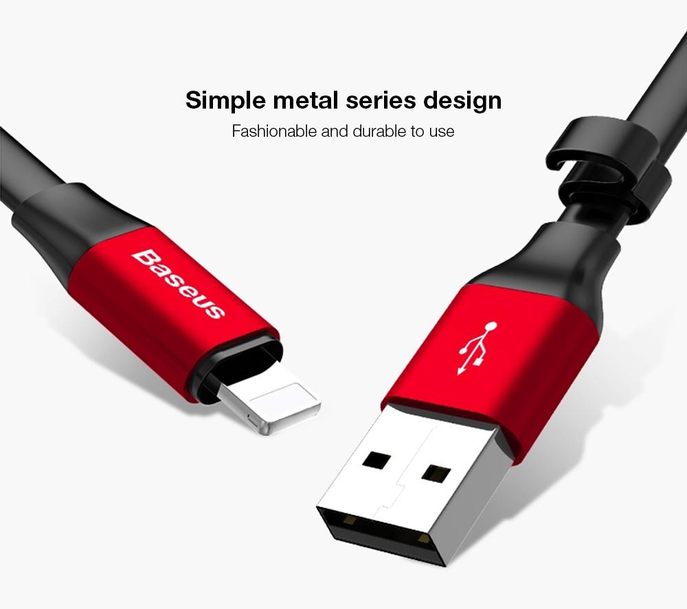 Baseus Nimble 2A Portable 8 Pin Transfer Data Synchronization  Cord 23CM
