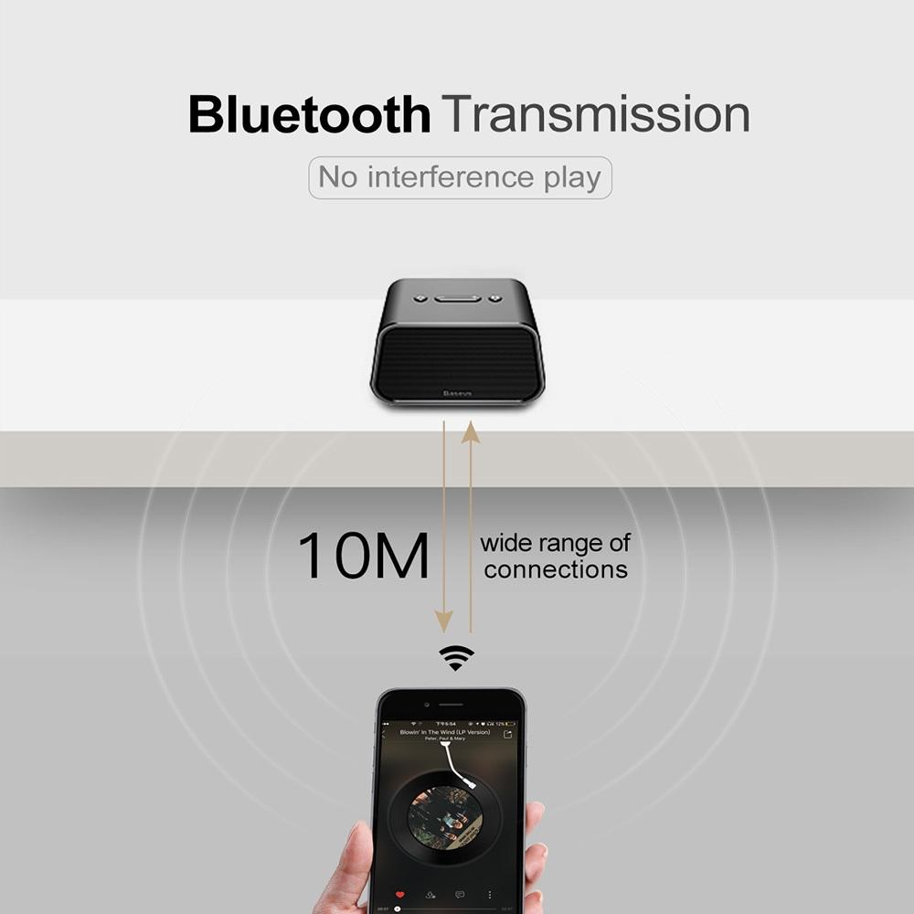 Baseus E02 Bluetooth Speaker Portable Wireless Player