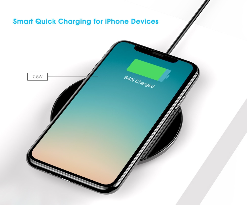 Baseus BSWC - P10 Simple Wireless Charger Aluminium Alloy Glass 10W