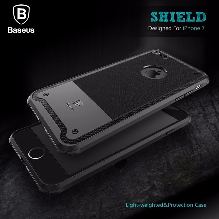 For iPhone 7  7 plus 4.7  5.5 inches Baseus Shield Case Drop-resistance Protective TPU Back Cover case Light-weighted for iPhone7  7 Plus with Retail Box (1)