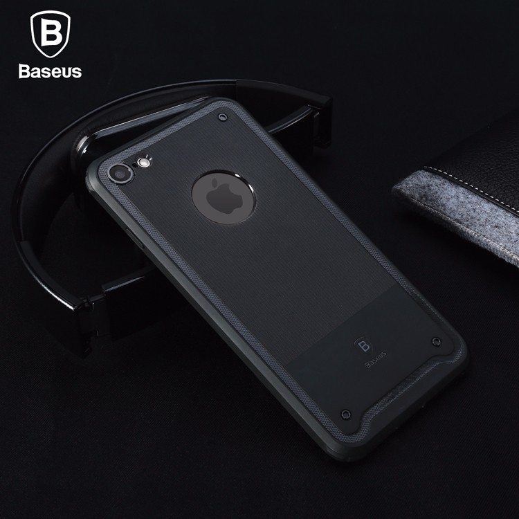 For iPhone 7  7 plus 4.7  5.5 inches Baseus Shield Case Drop-resistance Protective TPU Back Cover case Light-weighted for iPhone7  7 Plus with Retail Box (6)