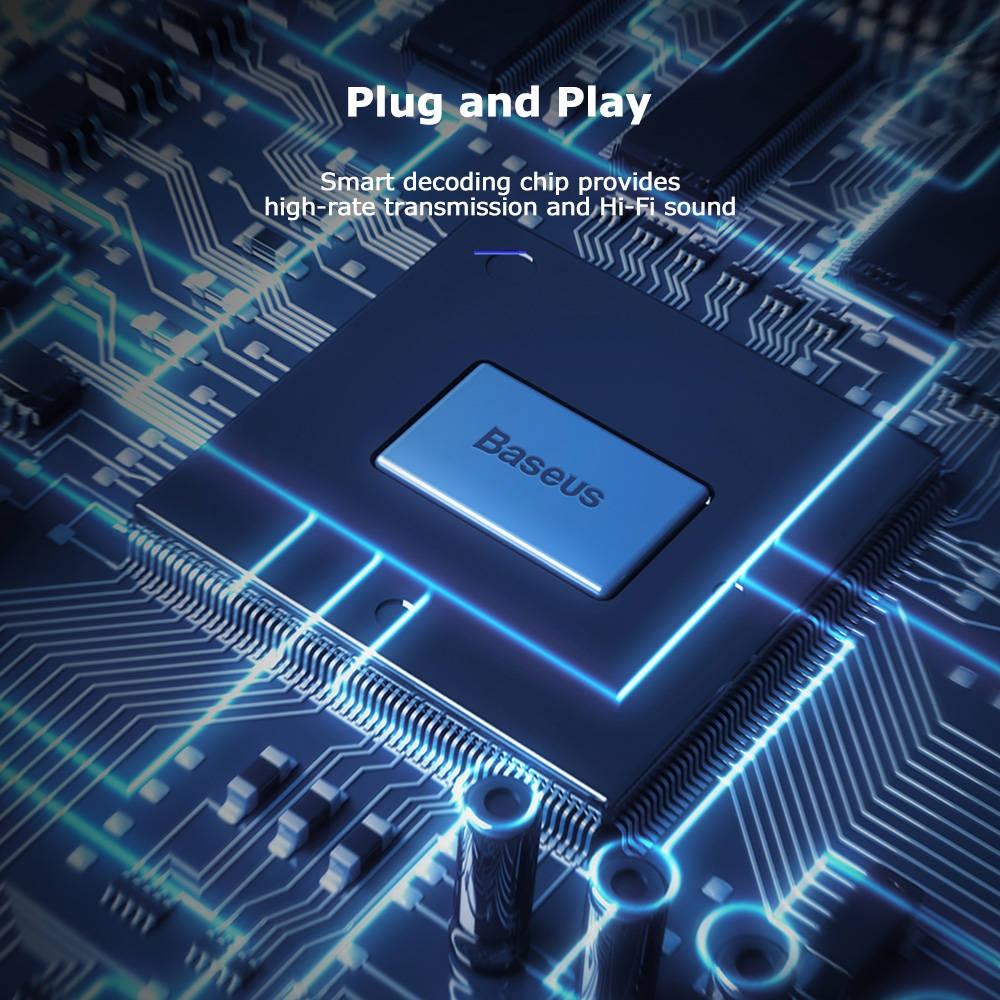 Baseus L41 Type-C Port + 3.5MM Audio Female Connector Mini Adapter