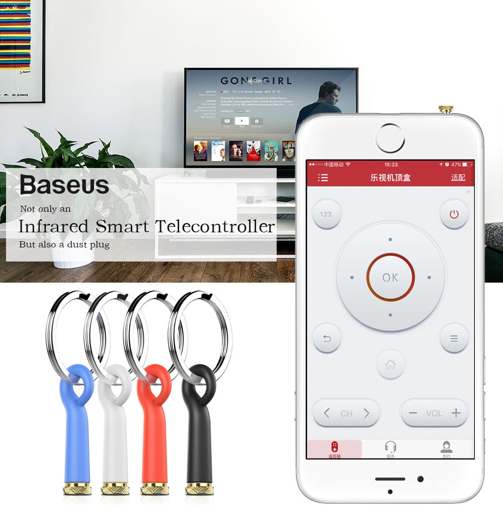 Baseus 3.5mm Universal Infrared Smart Remote Control Dust Plug Cover for iPhone