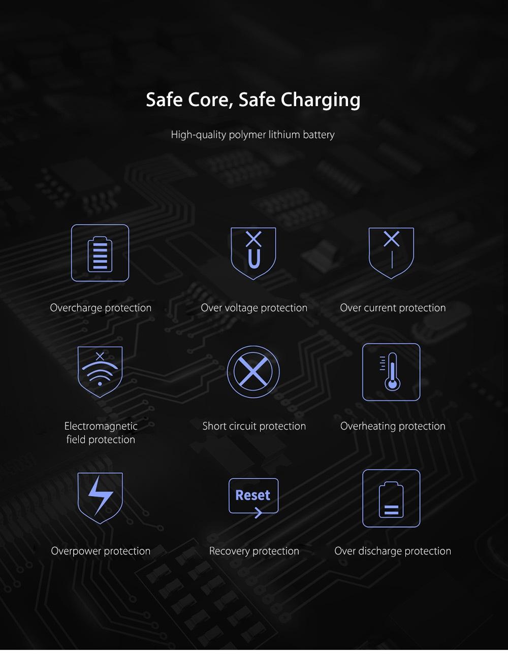 Baseus Thin Digital Display 10000mAh Power Bank QC 3.0 Dual USB Micro USB Type-C Input External Battery Charger