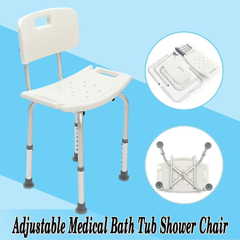 Buy Beauty Adjustable Medical Shower Chair Bath Tub Seat Bench Stool ...