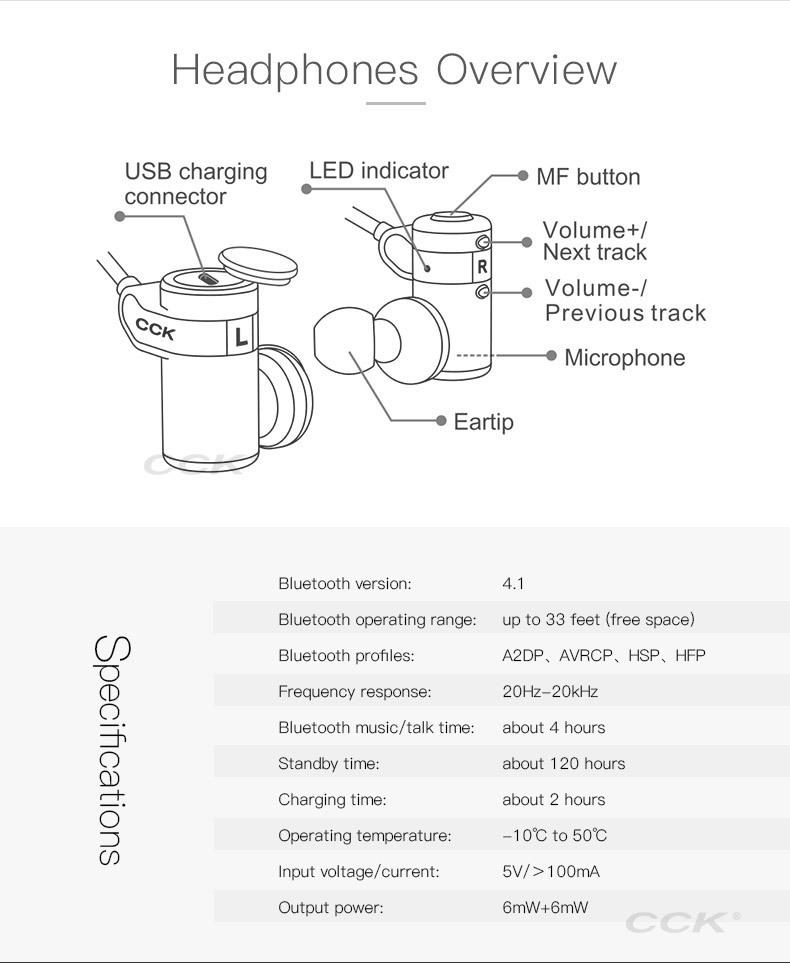 CCK KS Parkour HIFI Wireless Earphones (11)