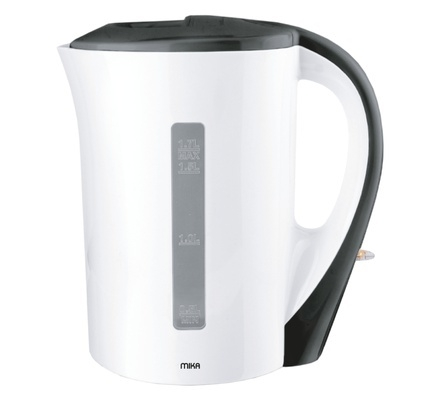 Kettle (Electric), Plastic, 1.7L, Corded, White & Black