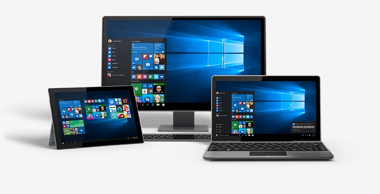 Windows 10 on all types of hardware screenshot showing various devices