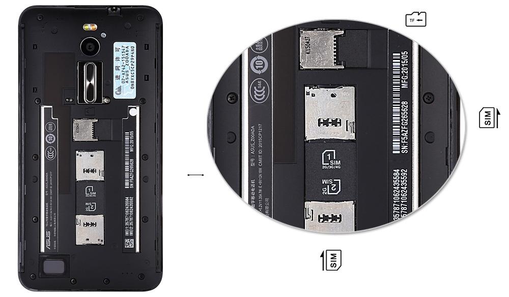 ASUS ZenFone 2 (ZE551ML) 4GB RAM 64GB ROM Android 5.0 Lollipop 4G LTE Phablet 5.5 inch FHD Screen Intel 64bit Z3580 Quad Core 2.3GHz