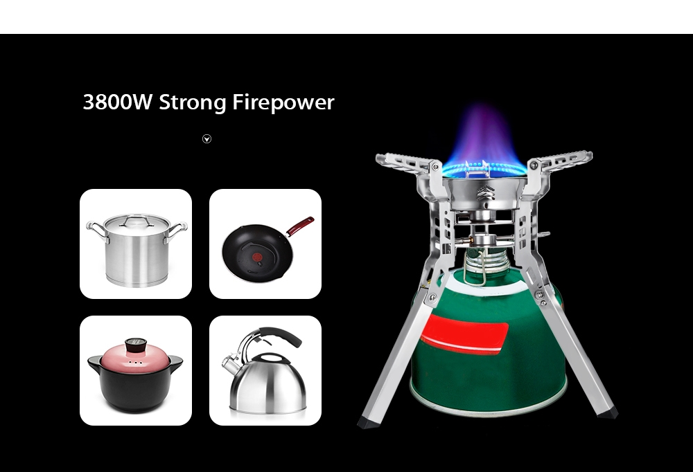 Bulin BL100 - B16 - A Outdoor Camping Picnic Foldable Split Gas Stove Portable BBQ Gear