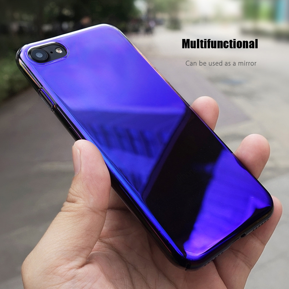 CAFELE Discolored Double Electroplated PC Case for iPhone 7