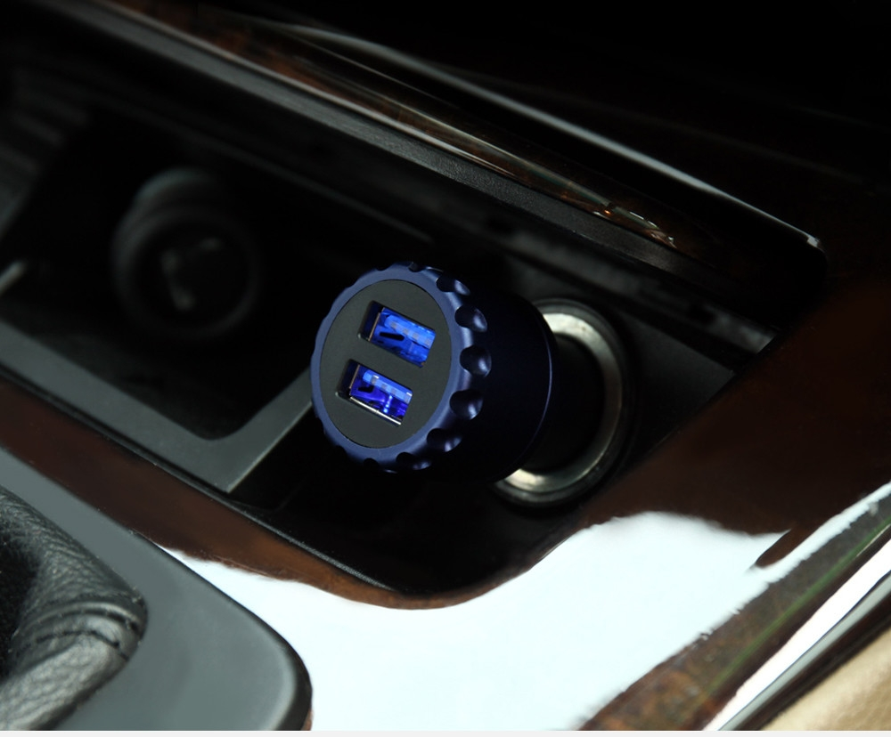 CAFELE Dual USB Luminous 5V 3.4A Quick Charging Car Charger