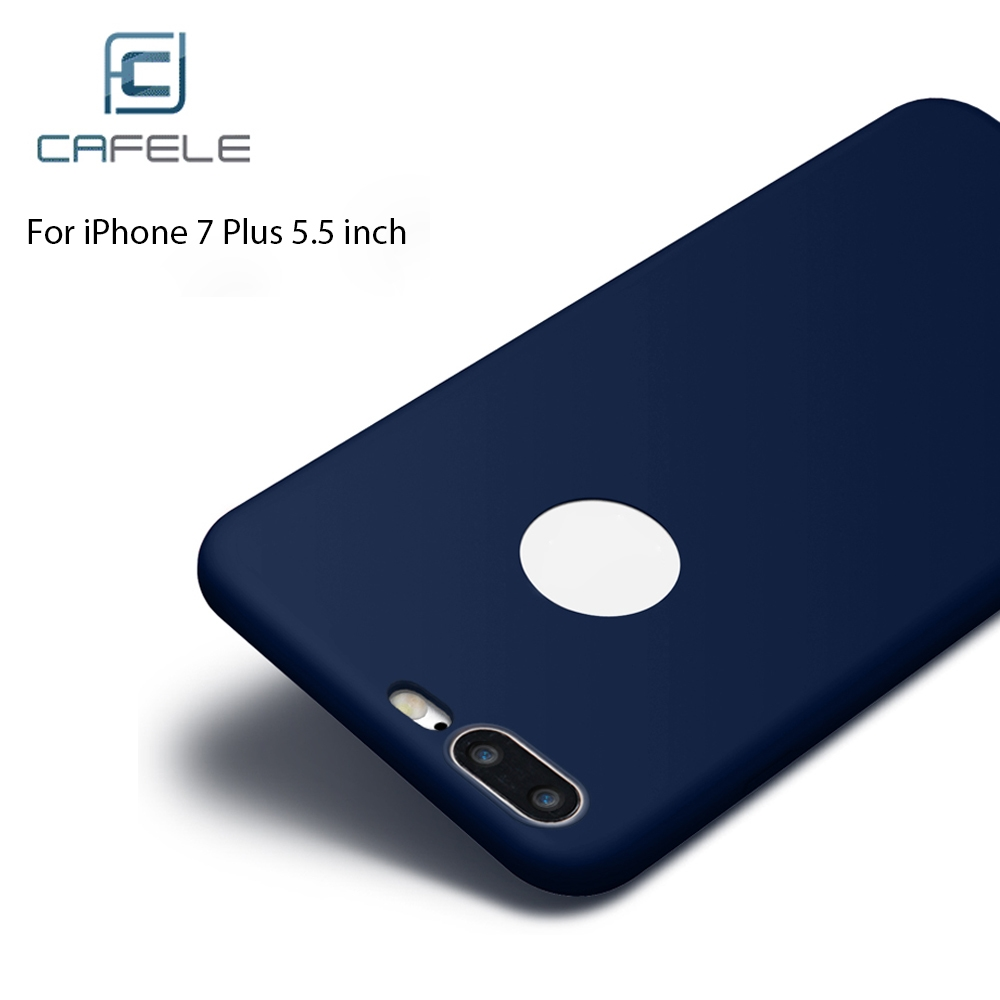 CAFELE  Frosted Soft Touch Flexible Silicone Back Case for iPhone 7 Plus 5.5 inch