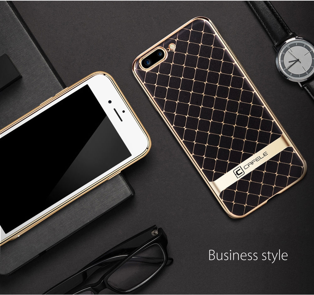 CAFELE Business Style Hourglass Pattern Back Cover for iPhone 7 Plus 5.5 inch