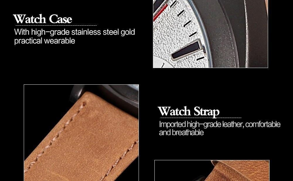 Men Fashion Casual Unisex Wristwatch Sport Quartz Watch Business Watch white 28cm 7