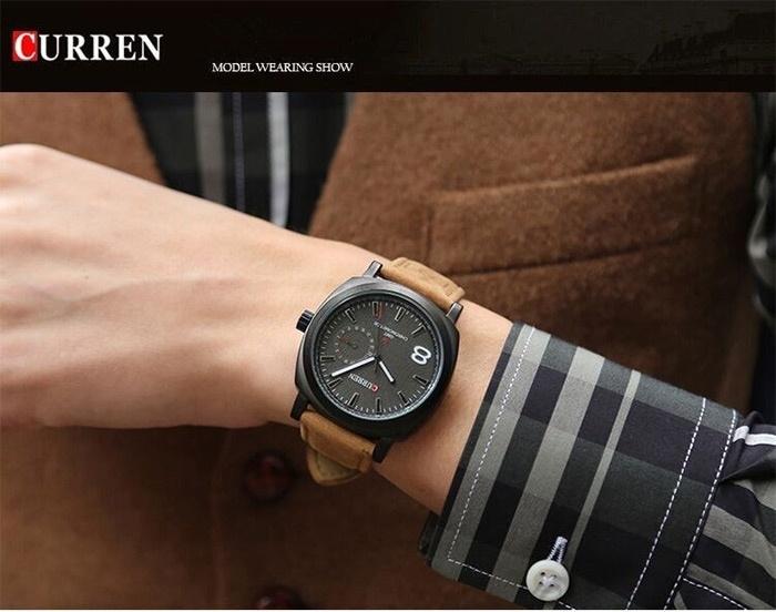 Men Fashion Casual Unisex Wristwatch Sport Quartz Watch Business Watch white 28cm 3