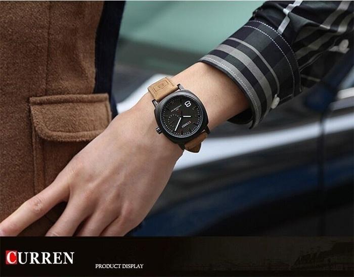 Men Fashion Casual Unisex Wristwatch Sport Quartz Watch Business Watch white 28cm 2