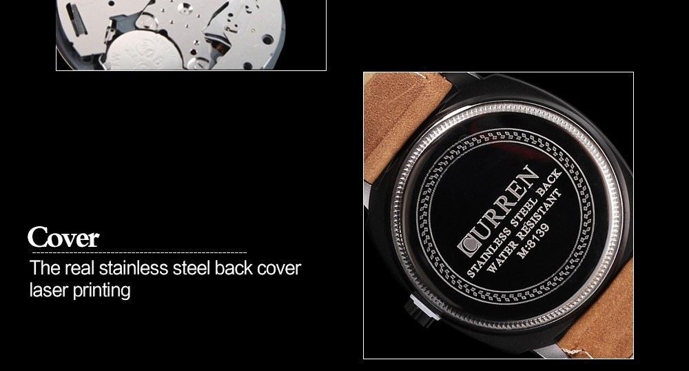 Men Fashion Casual Unisex Wristwatch Sport Quartz Watch Business Watch white 28cm 9