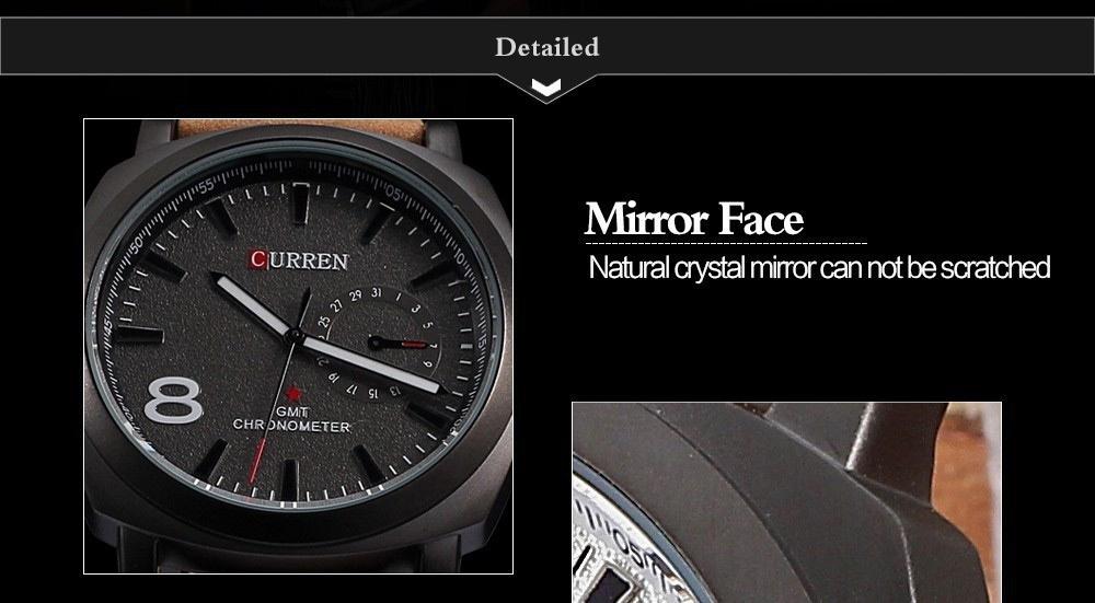 Men Fashion Casual Unisex Wristwatch Sport Quartz Watch Business Watch white 28cm 6