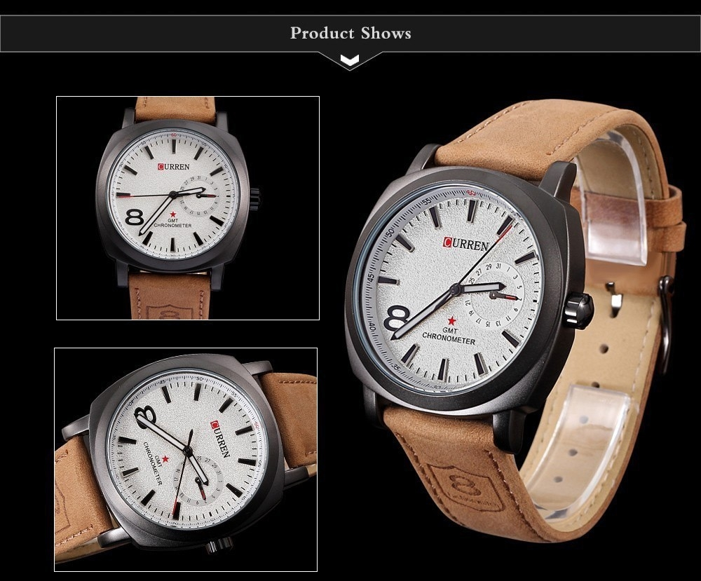 Men Fashion Casual Unisex Wristwatch Sport Quartz Watch Business Watch white 28cm 5