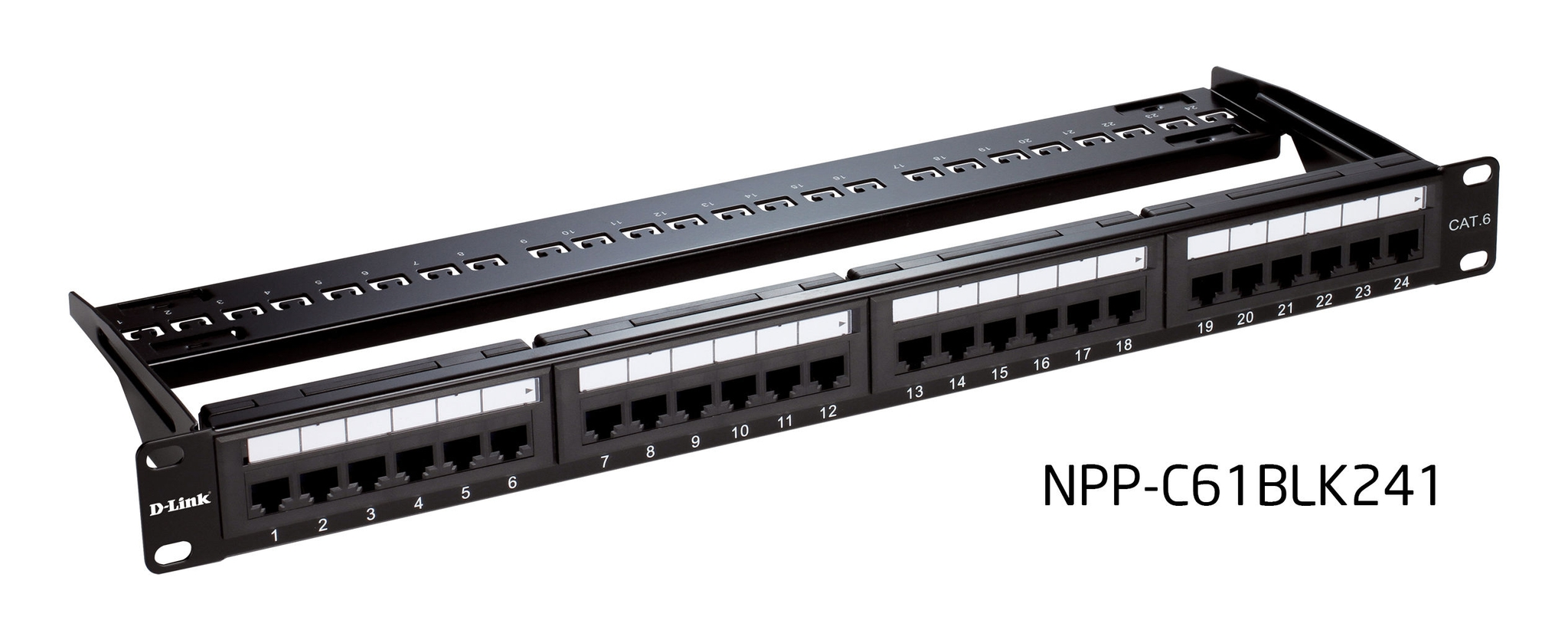 dlink npp-c61blk241 - 24 port patch panel - cat6