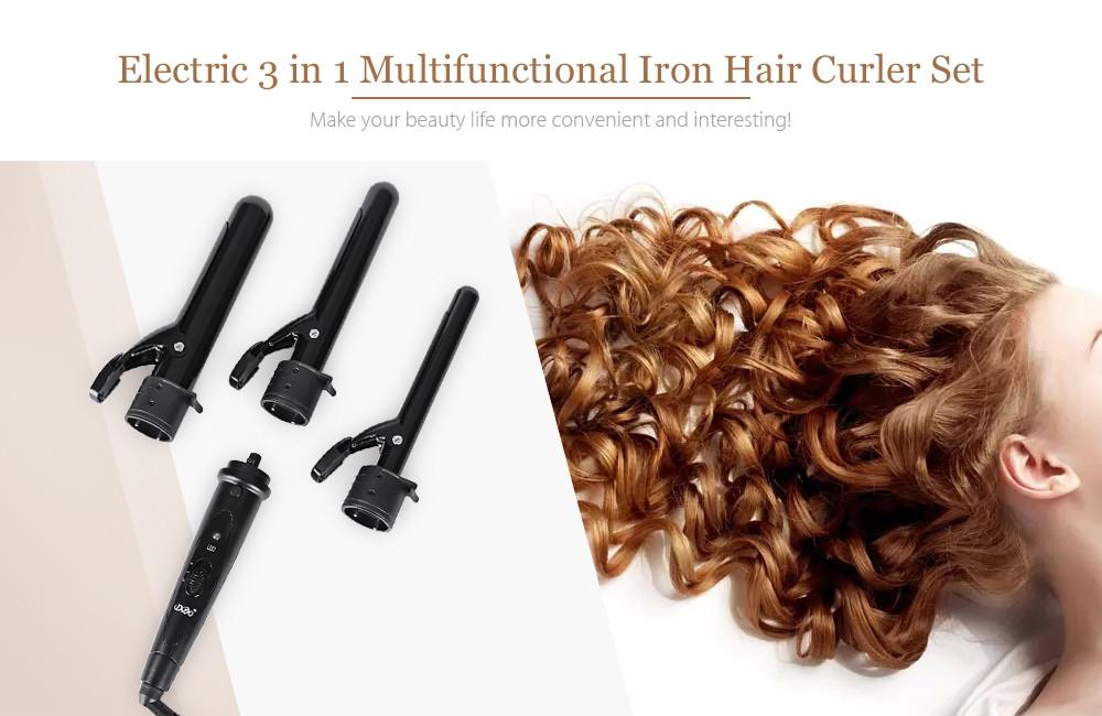 DODO 2819 Interchangeable 3 in 1 Clip-less Multifunctional Iron Hair Curler Set