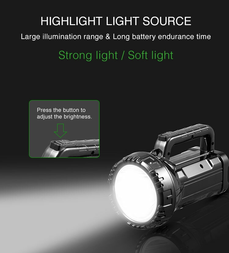 Super Bright Long Range Portable Rechargeable Torch